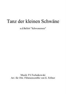 Nr.27 Tänze der kleinen Schwäne: Für grosses Flötenensemble by Pjotr Tschaikowski