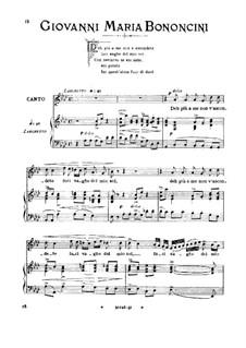Deh più a me non v'ascondete: Medium voice in A Flat Major by Giovanni Maria Bononcini