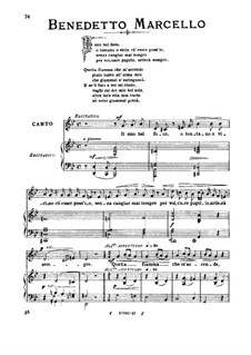 Il mio bel foco: Medium voice in G Minor by Benedetto Marcello