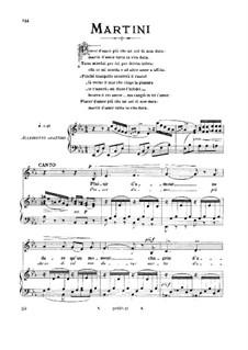 Plaisir d'Amour: Medium voice in E Flat Major by Jean Paul Egide Martini