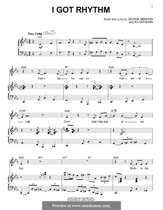 I Got Rhythm: Für Stimme und Klavier by George Gershwin