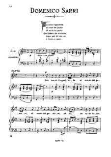 Sen corre l'agneletta: Medium voice in F Minor by Domenico Sarro