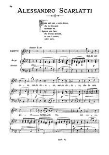 Sento nel core: Medium voice in F Minor by Alessandro Scarlatti