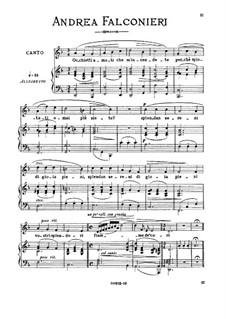 Occhietti amati: Medium voice in F Major by Andrea Falconieri