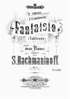 Suite Nr.1, Op.5: Für zwei Klaviere, vierhändig by Sergei Rachmaninoff