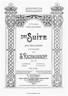 Suite Nr.2, Op.17: Für Zwei Klaviere, vierhändig by Sergei Rachmaninoff
