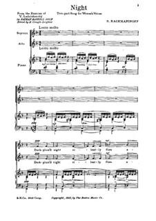 Six Choruses, Op.15: Six Choruses, Op.15 by Sergei Rachmaninoff