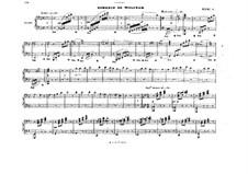 Akt III. Romanze von Wolfram: Bearbeitung für Klavier, vierhändig by Richard Wagner