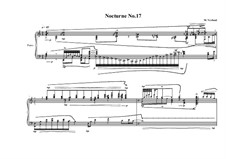 Nocturne No.17 for piano, MVWV 767: Nocturne No.17 for piano by Maurice Verheul