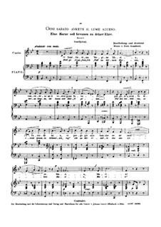 Ogni sabato avrete il lume acceso: Low voice in B Flat Major by Luigi Gordigiani