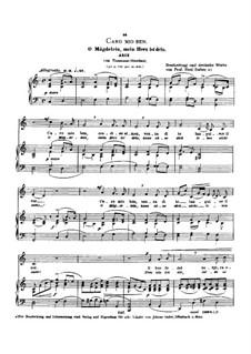 Caro mio ben (O Maiden Dear): Low voice in C Major by Tommaso Giordani