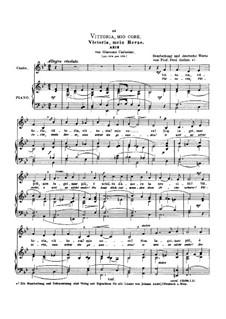 Vittoria, mio core: Low voice in B Flat Major by Giacomo Carissimi