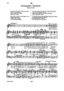 Chi vuole innamorarsi: For soprano and piano by Alessandro Scarlatti