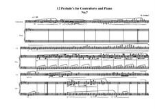 12 Prelude's for Contraforte and Piano: Prelude No.7, MVWV 748 by Maurice Verheul