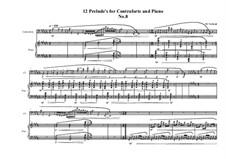 12 Prelude's for Contraforte and Piano: Prelude No.8, MVWV 749 by Maurice Verheul