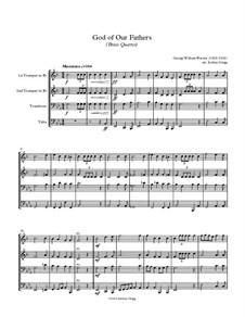 God of Our Fathers: Für Blechblasquartett by George William Warren