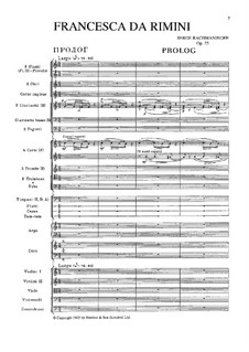 Francesca da Rimini, Op.25: For voices, choir and symphonic orchestra by Sergei Rachmaninoff