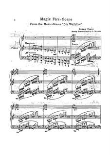 Die Walküre, WWV 86b: Feuerzauber, für Klavier by Richard Wagner