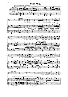 Ein Mädchen oder Weibchen: For bass or baritone and piano by Wolfgang Amadeus Mozart