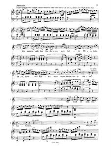 Wie stark ist nicht dein zauberton: For tenor and piano by Wolfgang Amadeus Mozart