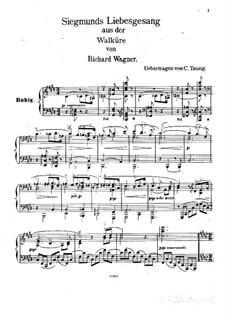 Die Walküre, WWV 86b: Siegmunds Liebeslied , für Klavier (Version von C. Tausig) by Richard Wagner