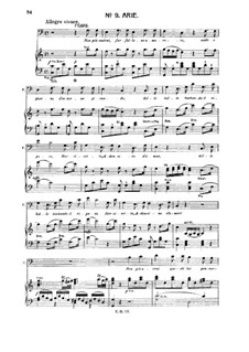 Non più andrai (Now no More): For baritone or bass and piano by Wolfgang Amadeus Mozart