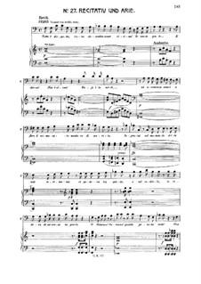 Aprite un po' quegli occhi: For baritone or bass and piano by Wolfgang Amadeus Mozart