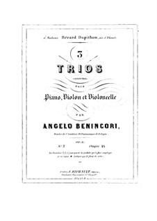 Klaviertrio Nr.3 in c-Moll, Op.6: Klaviertrio Nr.3 in c-Moll by Angelo Maria Benincori