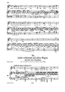 Claudine von Villa Bella, D.239: No.6 Arietta, for medium voice and piano by Franz Schubert