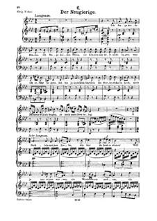 Der Neugierige: Für Mittelstimme und Klavier by Franz Schubert
