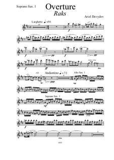 Overture for Saxophone Octet, 2nd Edition: Stimmen by Ariel Davydov
