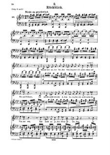 Nr.8 Rückblick: Für Mittelstimme und Klavier by Franz Schubert
