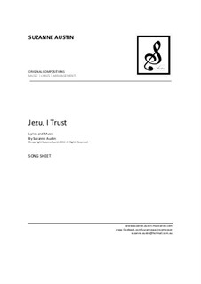 Jezu, I Trust: Song sheet by Suzanne Austin