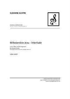 Milosierdzie Jezu - Interlude: Song sheet by Suzanne Austin
