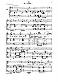 Nr.6 Wasserflut: Für Mittelstimme und Klavier by Franz Schubert