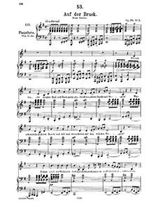Auf der Bruck, D.853 Op.93 No.2: Für Mittelstimme und Klavier by Franz Schubert