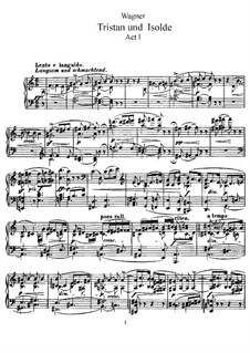 Vollständiger Oper: Klavierauszug mit Singstimmen (Englisch, Deutsch) by Richard Wagner