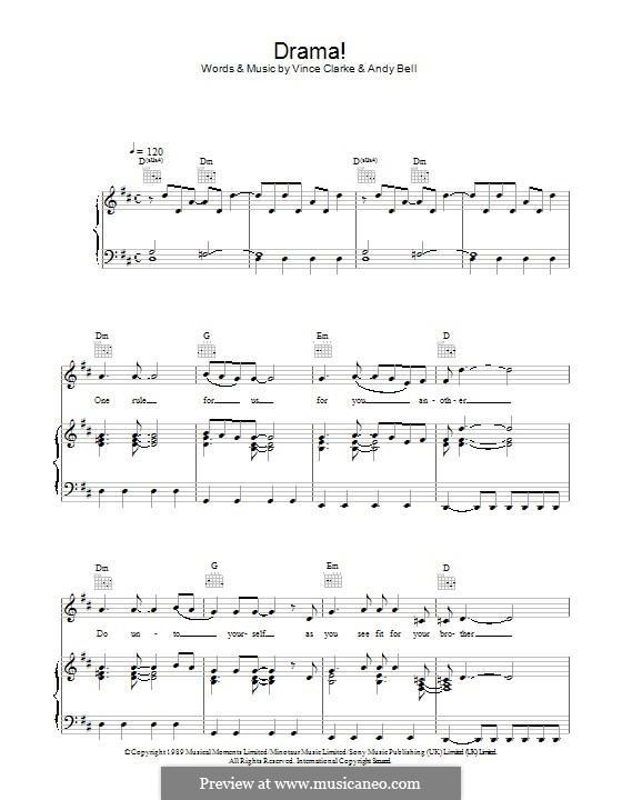Drama! (Erasure): Für Stimme und Klavier (oder Gitarre) by Andy Bell, Vince Clarke