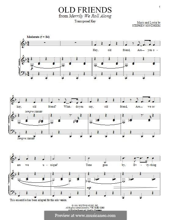 Old Friends: Für Stimme und Klavier by Stephen Sondheim