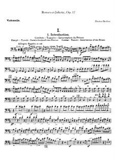 Romeo und Julie, H.79 Op.17: Cellosstimme by Hector Berlioz