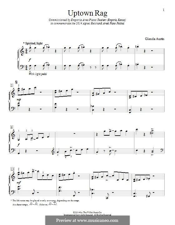 Uptown Rag: Für Klavier by Glenda Austin