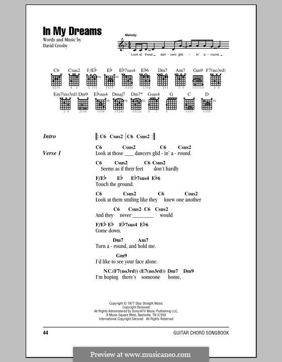 In My Dreams (Crosby, Stills & Nash): Texte und Akkorde by David Crosby