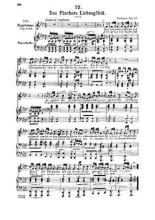 Des Fischers Liebesglück, D.933: Für Mittelstimme und Klavier by Franz Schubert