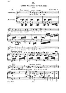 Gebet während der Schlacht, D.171: Für Mittelstimme und Klavier by Franz Schubert