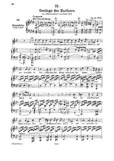 Nr.2 Wer nie sein Brot mit Tränen ass: G minor, for high voice and piano by Franz Schubert