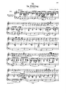 In Spring, D.882 Op.101 No.1: Für Mittelstimme und Klavier by Franz Schubert