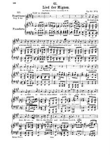 Nr.3 Lied der Mignon: A-Dur by Franz Schubert
