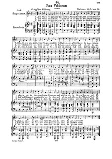 Pax Vobiscum, D.551: Für Mittelstimme und Klavier by Franz Schubert