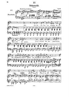 Sehnsucht, D.636 Op.39: Für Mittelstimme und Klavier by Franz Schubert
