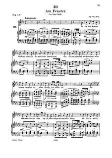 Am Fenster, D.878 Op.105 No.3: Für Mittelstimme und Klavier by Franz Schubert